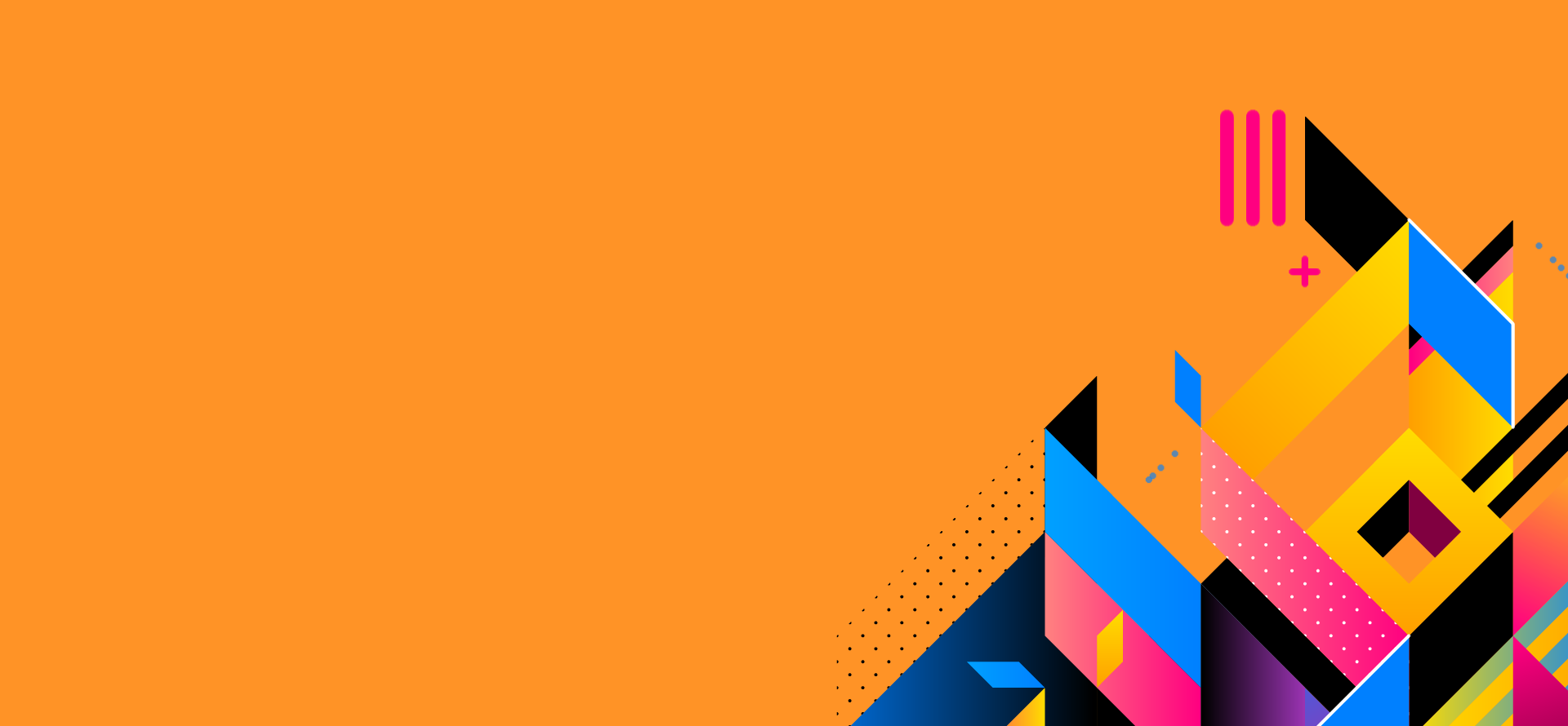immagine sfondo arancione con figure astratte